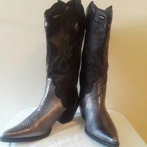 Reba Women's Cory Cowboy/Knee Boots NWOT